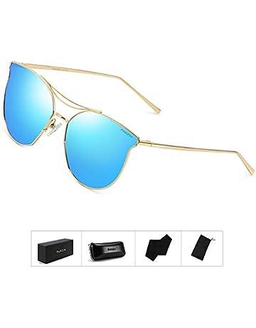 027706e57d Fashion Women Sunglasses of Polarized, PARZIN Round Novelty Cat Eye Eyewear  for Beach, Travel