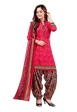 Raghavjee Sarees Women Crepe Salwar Suit Set