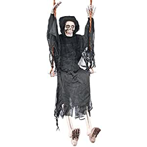 "36"" Light Up Swinging DeadTM Reaper On Swing Decoration Prop"