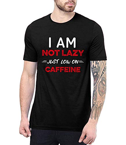 Mens Black Coffee Lover Gifts - Mens Graphic T Shirts | Not Lazy, - Lover Graphic