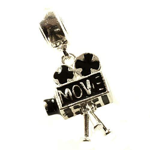Charm cine movie cámara de cine vintage Plata de Ley 925 compatible con Pandora: Amazon.es: Handmade