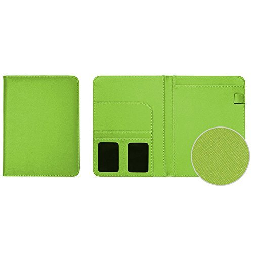 "Padfolio Green (Professional PU Leather Padfolio, A5 Size Writing Portfolio Includes Writing Pad, Pen Loop, Card & ID Slots, and Extra Pocket, Pad Holder, 6.4""X8.6"" (Yellow Green))"