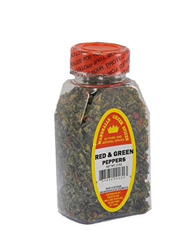 Green Sweet Peppers (RED & GREEN SWEET BELL PEPPER FLAKES FRESHLY PACKED IN LARGE JARS, spices, herbs, seasonings)