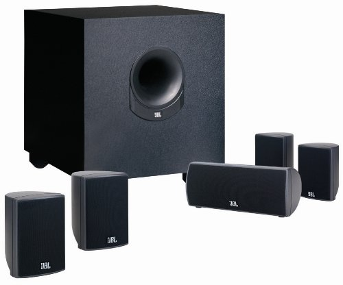 Jbl Surround Sound System - JBL SCS145.5 Home Cinema Speaker Package with Powered Subwoofer (Set of 6)