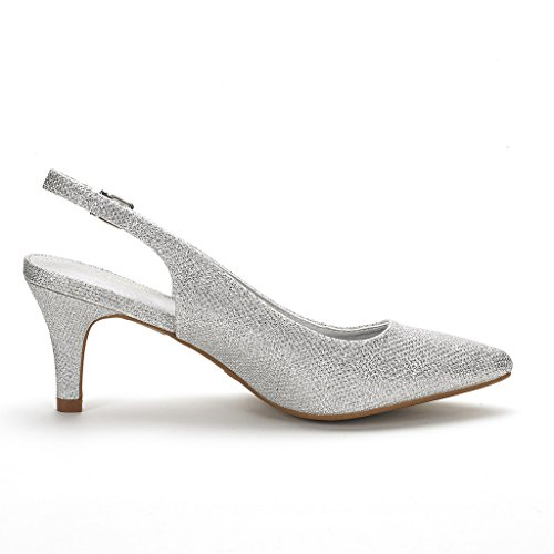 Dream Pairs Women's LOP Low Heel Pump Shoes delicate