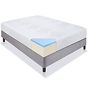 "Best Choice Products 10"" Dual Layered Gel Memory Foam Mattress Queen CertiPUR-US"