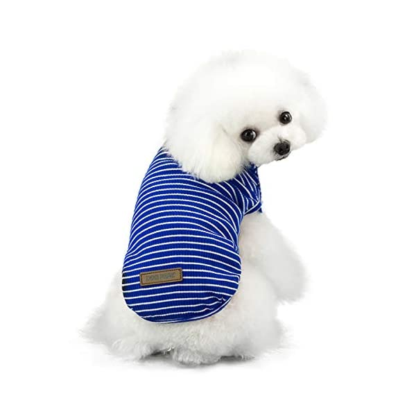 Pet Heroic Small Dog Cat Puppy Knit Sweater Clothes Comfortable Small Dog Sweater Cat Sweater Puppy Sweater Clothes for Small Dogs Cats Puppy Pink Red Blue Grey - Weight 2.5-20 pounds 6
