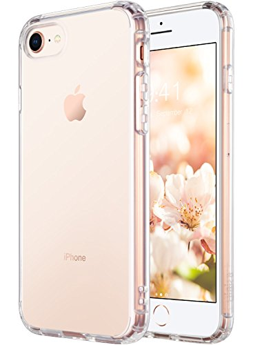 Hard Back Iphone - ULAK iPhone 8 Case Clear, iPhone 7 Case, Clear Slim Fit Premium Hybrid Shock Absorbing & Scratch Resistant Clear Case Cover Hard Back Panel+TPU Bumper for Apple iPhone 8 & iPhone 7 4.7 inch- HD Clear
