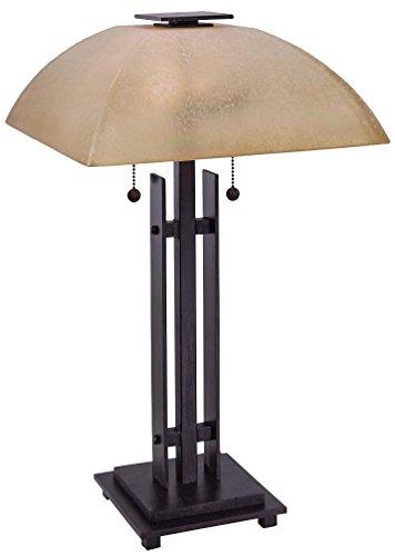 Minka Lavery 10352-357 2 Light Table Lamp, Iron Oxide Finish