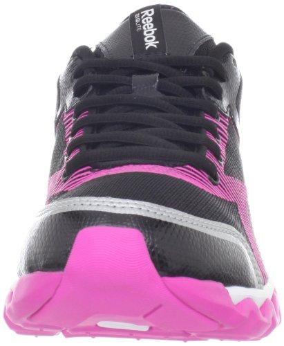 Reebok ZigLite White Electrify Pink Running Shoe Black Womens Siver ppzrq6HR