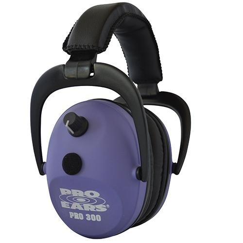 Pro Ears - Pro 300 - Electronic Hearing Protection and Amplification - NRR 26 - Ear  Muffs - Purple by Pro Ears (Image #1)