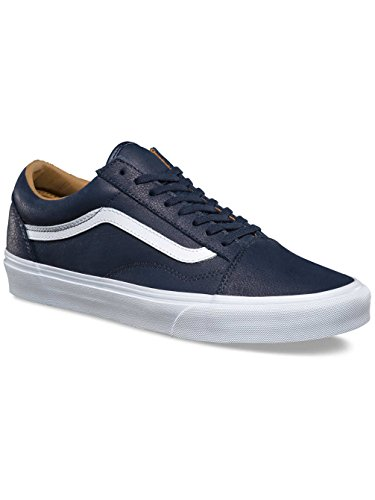 White Leather Homme true Vans Night Sneakers Bleu Ua Old Basses premium Skool Parisian qf4X87fw