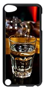 Fashion Customized Case for iPod Touch 5 Generation Black Cool Plastic Case Back Cover for iPod Touch 5th with Glass Cup Kimberly Kurzendoerfer