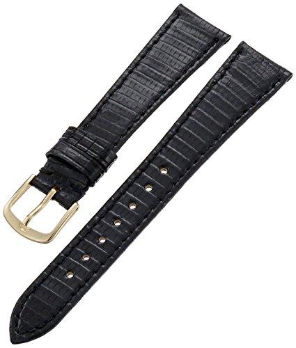 Hadley-Roma Men's MSM701RA-180 18-mm Black Genuine Lizard Leather Watch Strap