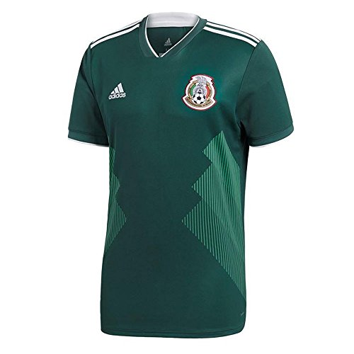 Home Jersey Authentic Mens Adidas - adidas 2018-2019 Mexico Home Football Soccer T-Shirt Jersey