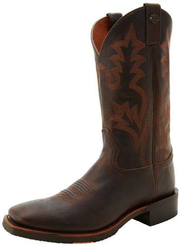 Harley-Davidson Men's Stockwell Motorcycle Western Boot, Brown, 13 M US - Harley Davidson Western Boots Men
