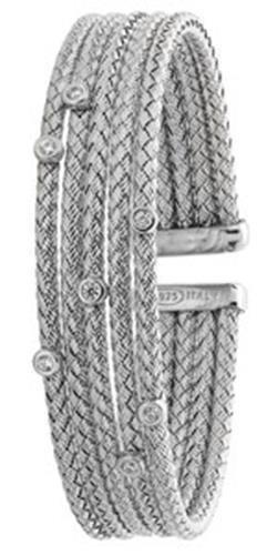 Bracelet Jonc en argent sterling 925plaqué rhodium