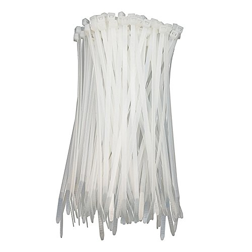 HS White Nylon Cable Ties 12in Zip Ties (100 Pack) 50 LBS Clear Zip Ties 12 Inch Plastic Ties Straps for Electrical,Christmas,Weding Fastening