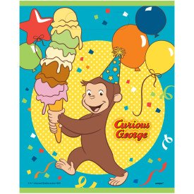 Curious George Loot Bags, 8 count Birthday Party Supplies -