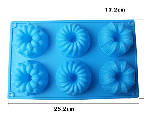 SuperStores Flower Shape Silicone Cake Mold 3D Fondant Cupcake Chocolate Muffin Candy Mold DIY Baking Decorating Tools(Random Color)