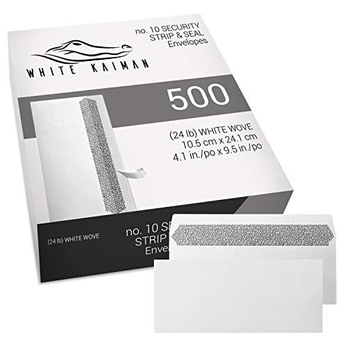 White Kaiman Number #10 Business Envelopes Security