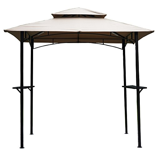 Kozyard Andra 8'X5' Soft Top Barbecue (BBQ) Grill Canopy (Tent) with 4pcs Magnetic Detachable LED Light