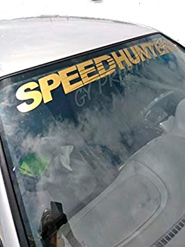 AmerStar SPEEDHUNTERS Former Super Personality Windshield Sticker Decal Banners Bumper Sticker Car Stickers Black