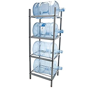 Bluewave Lifestyle PKSM443 4-Step Metal Bottle Storage Rack Holds 4 Bottles44; Dust Black