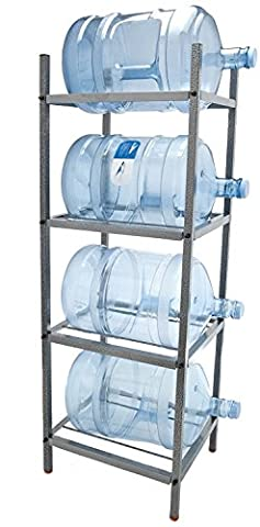 Bluewave 4-Step Metal Bottle Storage Rack - Holds 4 Bottles, Dust Black - Geo Coffee Table