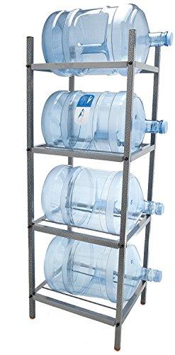 Bluewave 4-Step Metal Bottle Storage Rack - Holds 4 Bottl...