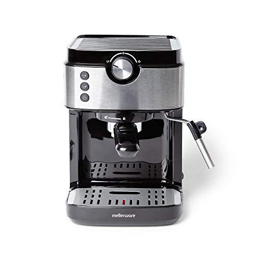 Mellerware Bari Legend cafetera espresso programable 20 bares y filtro extracream. Acero inoxidable