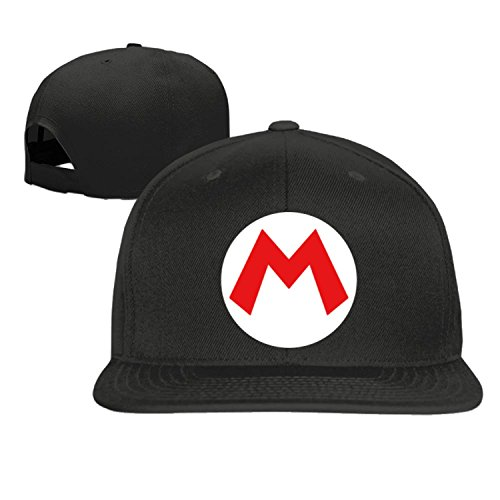 Super M baseball cap hip hop hat Black (5 (Mario And Luigi Hats For Sale)