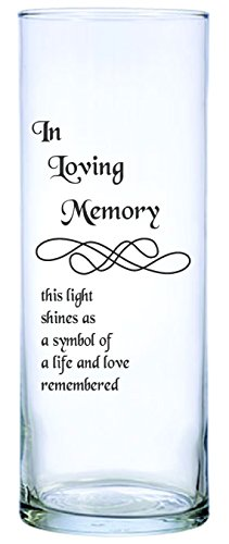Floating Wedding Memorial Candle - IE Laserware Beautifully etched Memorial Candle