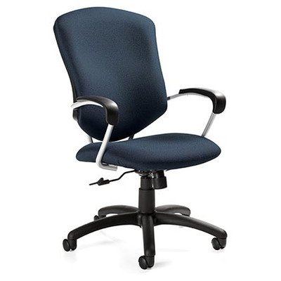 Pneumatic Seat 26' Base - Supra High-Back Pneumatic Tilter Office Chair with Arms Arms: Included, Finish: Sapphire