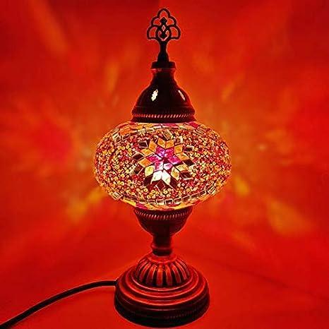 Fatto A Mano Turkish Marocchino Arabo Eastern Bohemien Stile Tiffany Mosaico In Vetro Colorato Lampada Da Tavolo Lampade Arredo Casa Amazon It Illuminazione