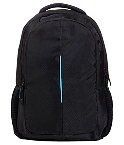 58dbb1df79f6 Porro Fino Dell Laptop Bag/Backpack for 15.6 Laptops Dell Black and Blue  Bag for School/College Guys/Office Going Guy