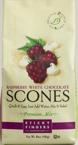 Sticky Fingers Scones Mix, Raspberry White Chocolate, 16 - Raspberry Scone Mix