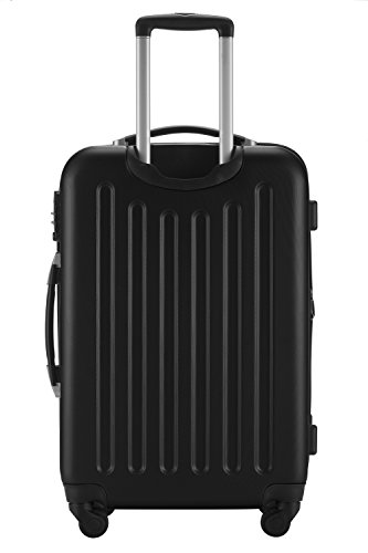 HAUPTSTADTKOFFER® Reisekoffer XL · Hartschalenkoffer · MATT ODER GLANZ + GEPÄCKGURT (MATT, Schwarz)