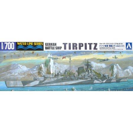 Aoshima 1/700 WWII German Battleship TIRPITZ (Waterline Hull) -