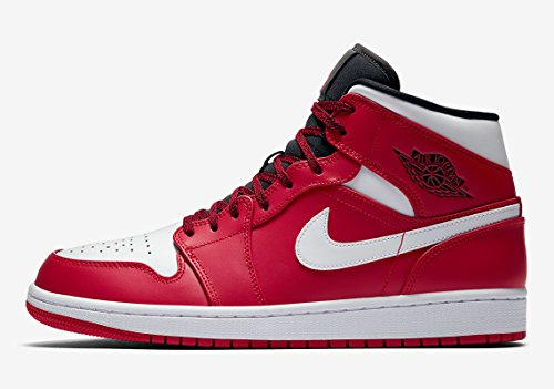 NIKE Men's AIR Jordan 1 MID Shoe Gym RED/White/Black (13 D(M) US)