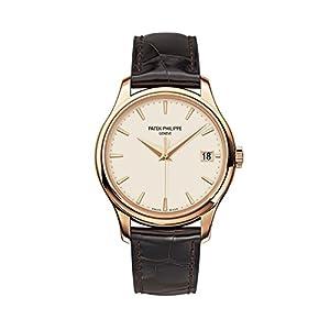 Best Epic Trends 41SZn%2Bz1lNL._SS300_ Patek Philippe Calatrava Mechanical Ivory Dial Leather Mens Watch 5227R-001
