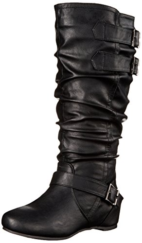 Brinley Co Womens Cammie-xwc Slouch Boot Nero Extra Largo Polpaccio