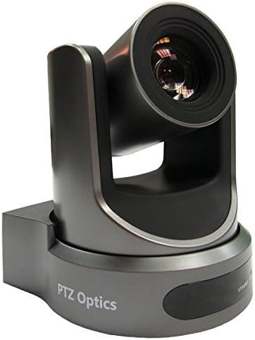 PTZOptics-20X-SDI GEN-2 PTZ IP Streaming Camera with Simultaneous HDMI and 3G-SDI Outputs – Gray