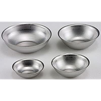 Dollhouse Miniature 1:12 Scale Set of 4 Aluminum Mixing Bowls: Toys & Games