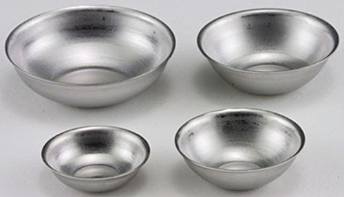 Dollhouse Miniature 1:12 Scale Set of 4 Aluminum Mixing Bowls