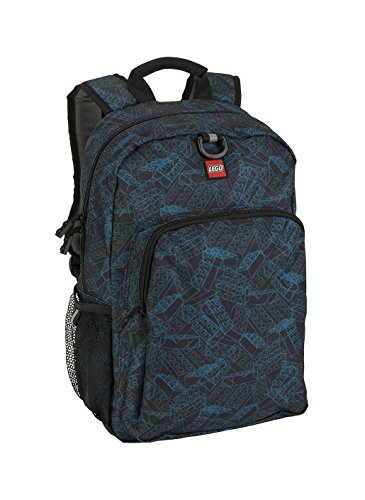 - LEGO Kids Blue Print Heritage Classic Backpack, Black, One Size