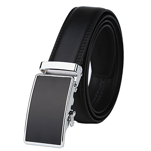Lavemi Men's Real Leather Ratchet Dress Belt with Automatic Buckle,Elegant Gift Box(55-0035) (Buffet Settings)