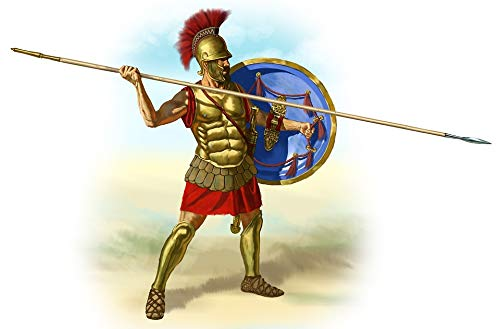 Home Comforts Peel-n-Stick Poster of Greek Romans Soldier Spear Gladiator Hoplite Vivid Imagery Poster 24 x 16 Adhesive Sticker Poster Print ()
