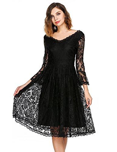 Buy below the knee black dress - 8