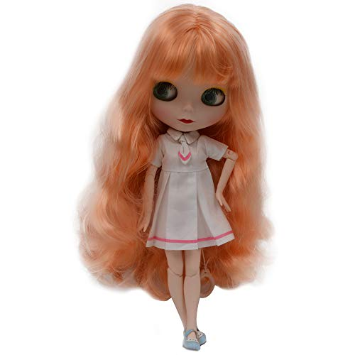 lar to Neo Blythe, 4-Color Changing Eyes Matte Face and Ball Jointed Body Dolls, 12 Inch Customized Dolls Can Changed Makeup and Dress DIY, Nude Doll Sold Exclude Clothes (Orange2) ()